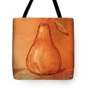 Burnt Sienna Pear Tote Bag