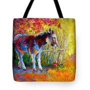 Burro And Bouganvillia Tote Bag