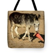 Burro Playing With Safety Cone Tote Bag