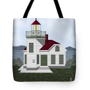 Burrows Island Lighthouse Tote Bag