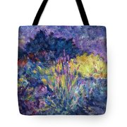 Burst Of Color-last Night In Monets Gardens Tote Bag