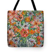 Burst Of Flowers Tote Bag