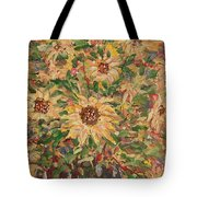 Burst Of Sunflowers. Tote Bag