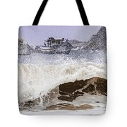 Burst Of Waves Tote Bag