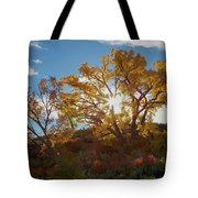 Burst Through The Trees Tote Bag