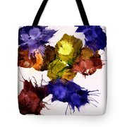 Bursting Comets 2017 - Yellow And Purple On White Tote Bag