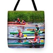 Burton Canoe Race At The Start Tote Bag