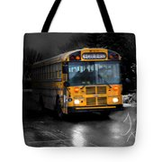 Bus Of Darkness Tote Bag