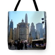 Bus On Miracle Mile  Tote Bag