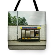 Bus Stop In Poland Tote Bag