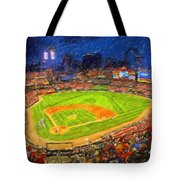 Busch Stadium At Night Rocks Tote Bag