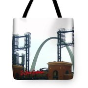 Busch Stadium With Arch Tote Bag