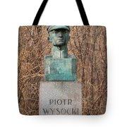 Bush Behind Piotr Wysocki Bust Tote Bag