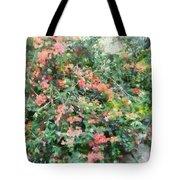 Bush Full Of Flowers. Tote Bag