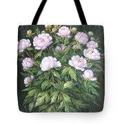 Bush Of Pink Peonies Tote Bag