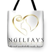 Gold And White Angelfayss Tote Bag