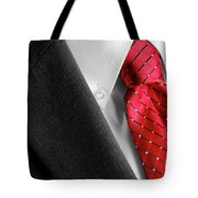 Business Suit White Shirt Red Tie Formal Wear Fashion Tote Bag