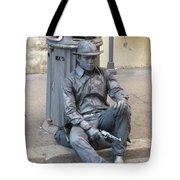 Busker In Rome Tote Bag