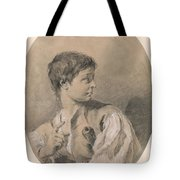 Bust Of A Boy In Profile Holding A Sword Tote Bag