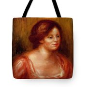 Bust Of A Woman In A Red Blouse Tote Bag