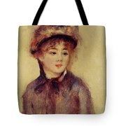 Bust Of A Woman Wearing A Hat 1881 Tote Bag