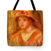 Bust Of A Young Girl In A Straw Hat 1917 Tote Bag