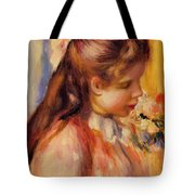 Bust Of A Young Girl Tote Bag