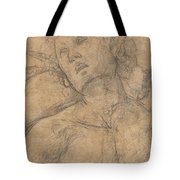 Bust Of A Youth Looking Upward [recto] Tote Bag