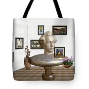 Bust Of The Spirit Of Einstein Tote Bag