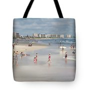 Busy Beach Day Tote Bag