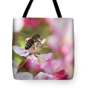 Busy Bee On A Crabapple Tree Tote Bag