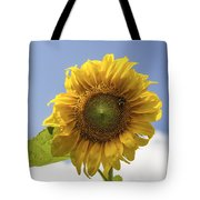 Busy Bee On A Sunflower Tote Bag