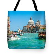 Busy Canal Grande In Venice Tote Bag