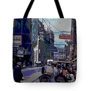 Busy  City Street Tote Bag