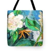 Busy Gardenias Tote Bag