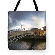 Busy Ha'penny Bridge 4 Tote Bag