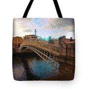 Busy Ha'penny Bridge  Tote Bag