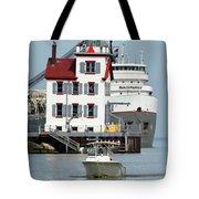Busy Harbor Of Lorain Tote Bag