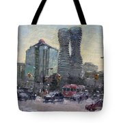 Busy Morning In Downtown Mississauga Tote Bag