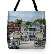 Busy On The Pier 1 Tote Bag