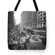 Busy State Street In Chicago Tote Bag