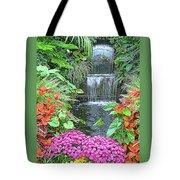 Butchart Gardens Waterfall Tote Bag