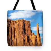 Butte And Clouds Tote Bag