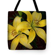 Buttercream Lilies Tote Bag