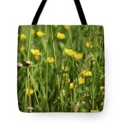 Buttercups And Green Grass At Moore State Park Tote Bag