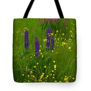 Buttercups And Lupines Tote Bag