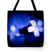Buttercups In White Blue And Black Tote Bag