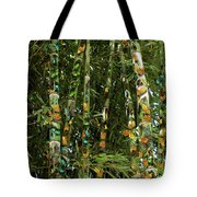 Butterflies And Bamboo Tote Bag