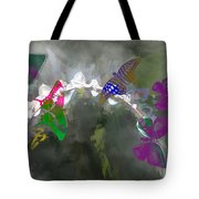 Butterflies And Dew Tote Bag