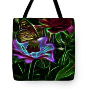 Butterflies And Flowers IIi Tote Bag